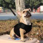 Yahoo!STKショップPerfk ペット用品 犬用 ウォーキング リード ハーネス 高強度Dリング 通気メッシュ 全5色5サイズ - 黒, XL