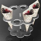 【ノーブランド品】アイスクリームケーキキャンディホルダー結婚式のパーティービュッフェディスプレイ用8穴1セット