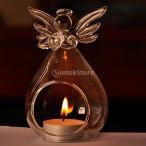 ガラス製 花瓶 水耕栽培  容器 テラリウム ボトル 燭台 装飾 - 天使