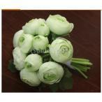 Yahoo!STKショップ人工結婚式の絹椿の花の女の子のブライダルブーケは、シアンをbridemaid