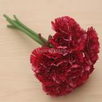 人工シルクフラワーカーネーション花束結婚式の家の装飾は、赤いバラ