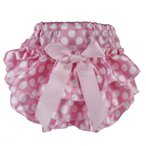 ノーブランド品 赤ちゃん おむつカバー 出産祝い ベビー ギフト プレゼント ショーツ パンツ ボウ 飾り (ピンク+白)