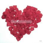 【ノーブランド品】600枚 バラ の花びら フラワーシャワー 結婚式 誕生日 二次会 クリスマス パーティーグッズ お祝い 飾り (レッド)