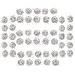 結婚式の工芸品のための50個の円形ボタンのフラットバックの装飾