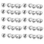 50個のダイヤモンドクリスタルハートボタンフラットバック結婚式の好意のクラフト装飾