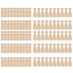 10空白の花嫁&新郎新郎木製のペグ人形フィギュアウェディングケーキトッパーdiy