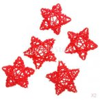 SONONIA セール お買い得 10点 6センチメートル 杖籐の装飾 クリスマス/結婚式の装飾 スター 赤