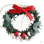 クリスマスリースクリスマスの飾りをぶら下げ1:12スケールのドールハウスミニチュア