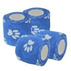 ショッピングガーゼ SONONIA 4ロール 猫 犬 ペット用 粘着 包帯 ガーゼ テープ ラップ