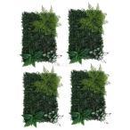 Homyl 4つ 人工植物 芝生壁 結婚式場 メインロード 装飾 扱いやすい
