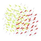 約200枚入り プラスチック製 ベイト スクリュー ポットアップペグ/ネジ 鯉釣り チョードリグ  全2種類 - 混合色