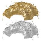 Baosity ベルベット 巾着 袋 結婚式 好意 ポーチ 収納 便利 ギフト包装 約9×6.6cm 40個入り