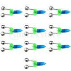20ピース釣り竿バイトアラームベルツインベルクリップアラータ魚バイトアラーム付きLEDライトクリップ釣りタックルツールアクセサリー