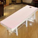 2ピース75×190センチメートル滑り止め化粧品テーブルマットレスマッサージベッドシーツピンクホワイト