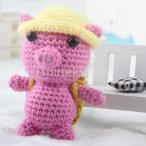 2セットdiy人形かぎ針編みキット初心者手編み動物ぬいぐるみ