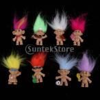 クロマチック16ピースラッキートロール人形ミニアクションフィギュアおもちゃケーキの装飾