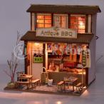 レストラン模型 中華料理店モデル 果物屋模型 1/24スケール ドールハウス家具 組み立て式 3点