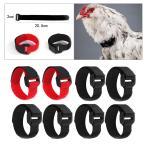 8x Anti Crow Chicken Collarは.鶏がオンドリのアヒルのために叫ぶのを防ぎます