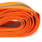 ライムオレンジシンセ・ファブリック3メートルで銀反射テープのセイフティストリップ縫います