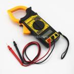 黄色の液晶デジタル電流計抵抗計マルチメータボルトのAC DCテスタークランプメーター