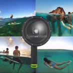 ヒーロー3 + / 4用のダイビング水中カメラのレンズドームポートカバーシェルフロートグリップ