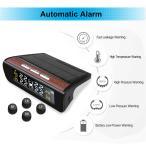 ソーラー4xセンサーTPMSデジタルLCD自動車タイヤ空気圧監視システム外部センサー
