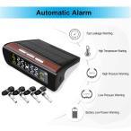 ソーラー4xセンサーTPMSデジタルLCD自動車タイヤ空気圧監視システム内部センサー