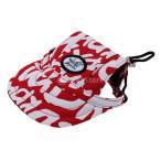 赤い小さなペットの犬猫の子猫の手紙の野球帽ネックストラップキャップサンボネットのメートル