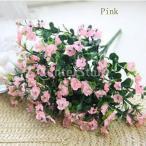 Yahoo!STKショップホーム人工絹のカスミソウの赤ちゃん\ 'sの息の花植物のブライダル装飾ピンク