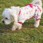 ペットの犬の子犬の綿の服ソフトパジャマ漫画のジャンプスーツアパレルピンクメートル