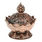 蓮の香の煙コーンアロマバーナーホルダーストーブ逆流香炉銅