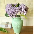Homyl 6色選べる 造花 装飾 アジサイ 庭 小道具 絹 パーティー 植物 結婚式 - 紫