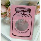 ノーブランド品 【】かわいい ボトル デザイン 自己接着 クッキー キャンディ ラッピング ギフト 海 4色選べる - ピンク