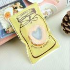 かわいい ボトル デザイン 自己接着 クッキー キャンディ ラッピング ギフト 海 4色選べる - イエロー