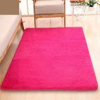 シャギーラグ - ふわふわラグアンチスキッドシャギーラグマット自宅の寝室のカーペットフロアマットは、赤いバラ