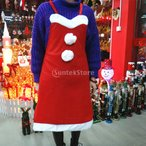 大人のクリスマスサンタエプロン赤いよだれかけウェイトレス仮装衣装クリスマスギフト