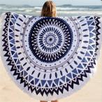幾何学パターンラウンドビーチスカーフインドタペストリーヒッピーショールtowl#1