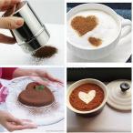 ノーブランド品 実用 ステンレス チョコレート ココア シェーカー 粉ふるい アイシング シュガー 粉 スプリンクラー コーヒー