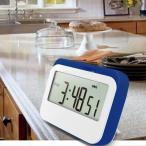 ポータブル 液晶デジタル 調理タイマー カウント ホーム キッチン 時計アラーム 全2色 - 青
