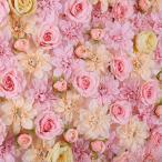Kesoto 人工花 造花 壁パネル 結婚式用品 会場 装飾 小道具 全8タイプ選べ - ピンクのシャンパン