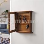 雑貨仕上げボックス創造的な木製のキーボックスキャビネット3フックブラウン