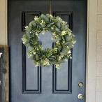 ユーカリ花輪フロントドア壁窓緑花輪農家装飾屋内屋外パーティー結婚式壁の家の装飾春夏すべて季節