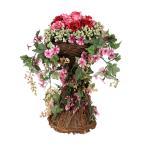 籐のバスケットが付いている鉢植えの花のセンターピース鉢植えの装飾アクセサリーピンク