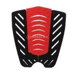 赤+黒の3ピースサーフボードショートボードのテールパッドデッキグリップ、トラクションストンプマット