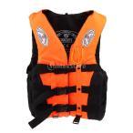 全3色 水泳 漂流用 ライフジャケット ベスト サバイバル スーツ - オレンジ