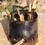 Dovewill ステンレス 屋外 キャンプ ピクニック 木材燃焼ストーブ 焚き火台 薪ストーブ