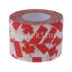2ロール耐摩耗スキッド抵抗スポーツアイスホッケースティックテープ赤もみじ葉