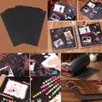 Lovoski DIY 写真 アルバム 結婚式 記念日 卒業 カード 26 * 18cm 30個 黒