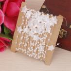 ノーブランド品 DIY 工芸品 装飾 5m 白い 星とラウンド ビーズ チェーン 家庭 結婚式 ギフト 衣服