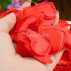ノーブランド品 結婚式 装飾 スポンジ製 花びら 造花 クラフト 工芸品 アクセサリー ハート形 全5色 - レッド